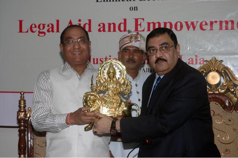 Mr. Justice Amitava Lala with Suresh Jain at TMU