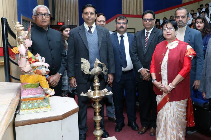 Dr. Rajneesh Dube (IAS) with Suresh Jain at TMU