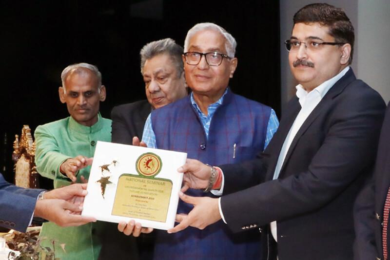 Shri Ramit Sharma (IPS) with Suresh Jain at TMU